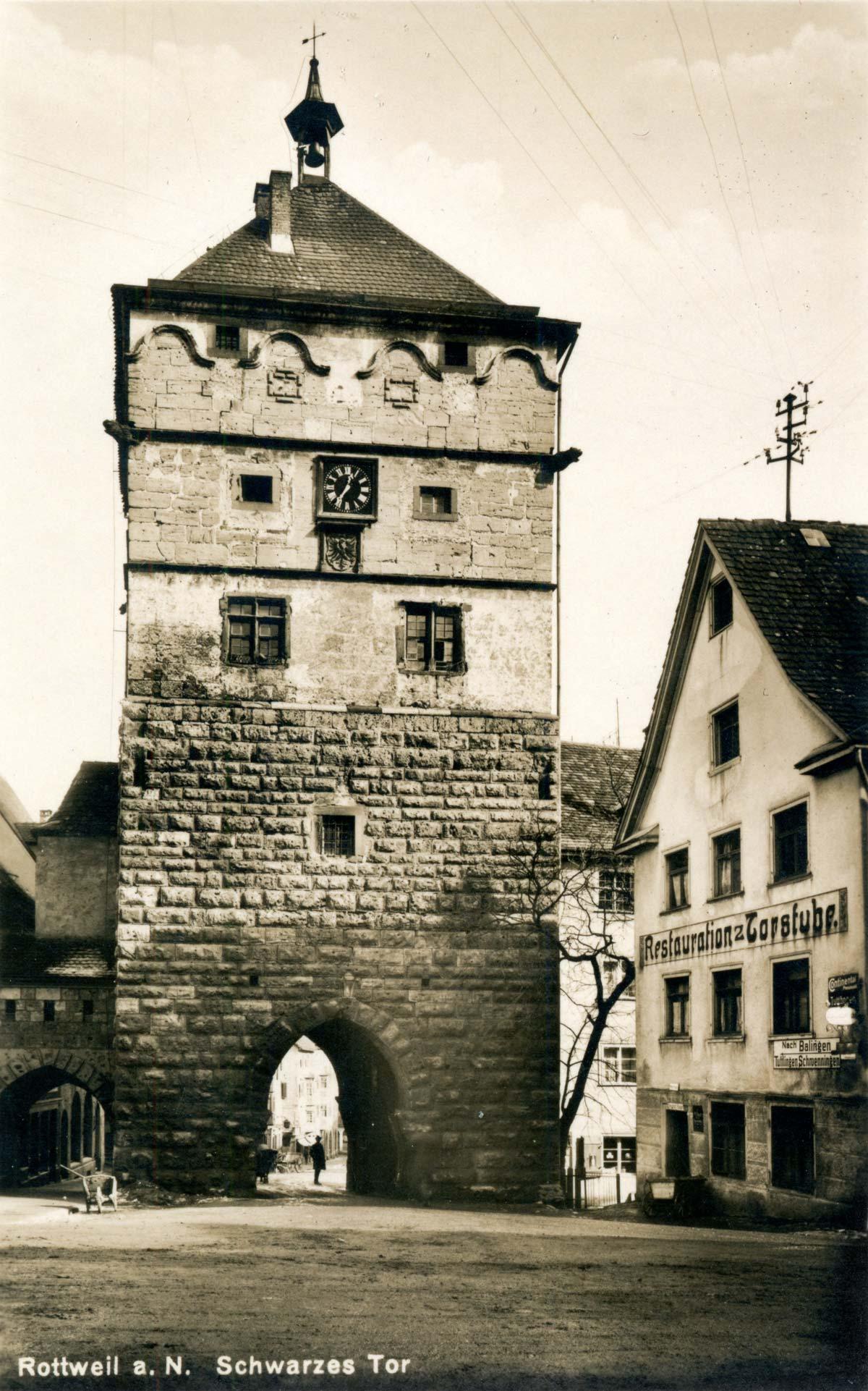 Das Schwarze Tor um das Jahr 1930