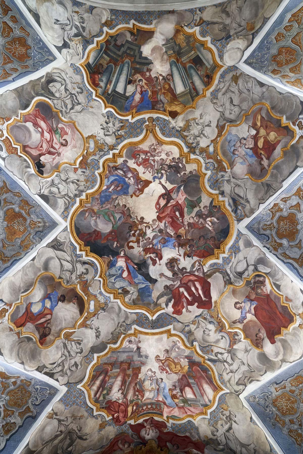 Die Decke der Kapellenkirche